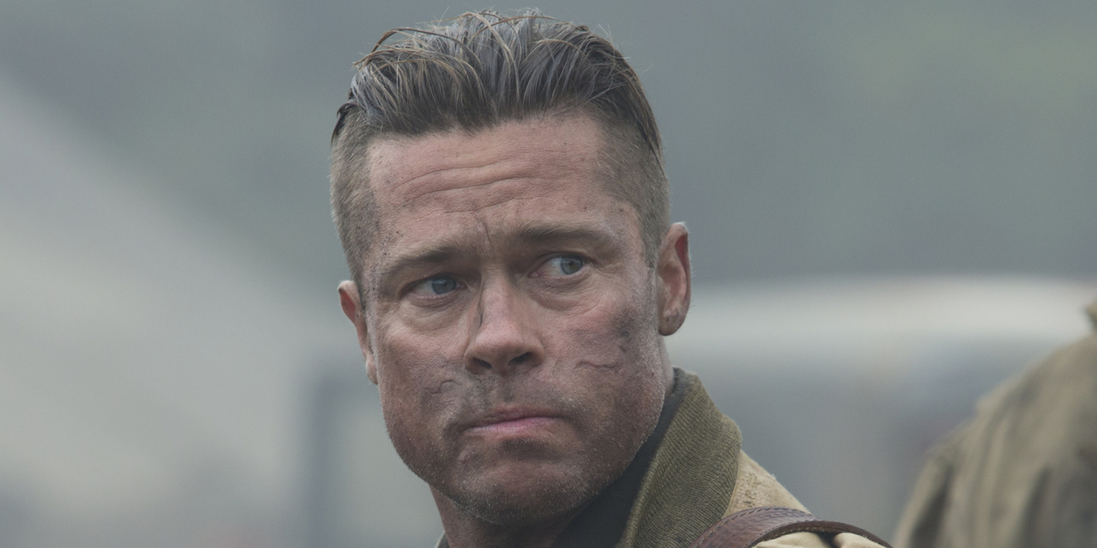 brad pitt fury hair - photo #7