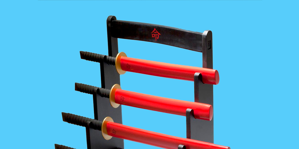 samurai sword knife set