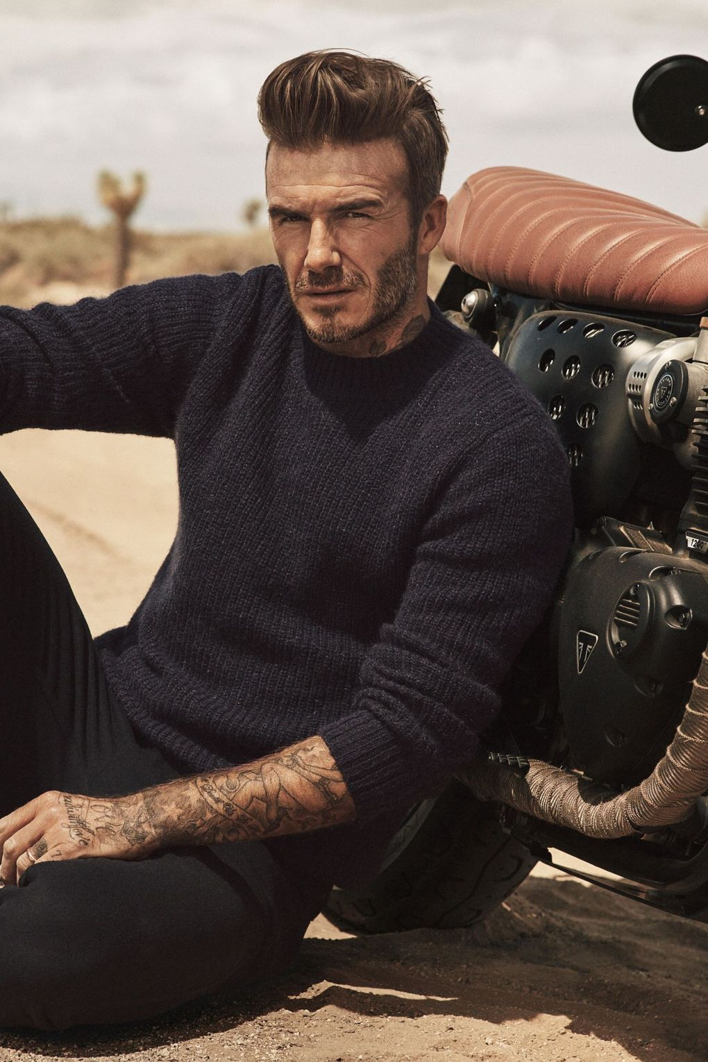 16 style icons donning knitwear that won 39 t leave you feeling cold for David beckham