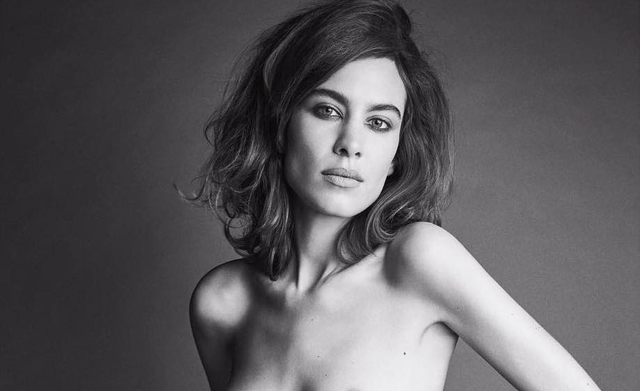 alexa chung poses topless for a moody new photoshoot